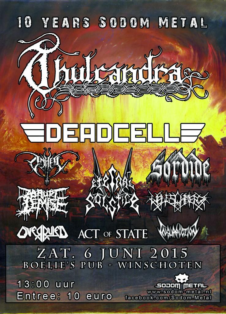 Sodom Metal Festival, neiderlande Flyer