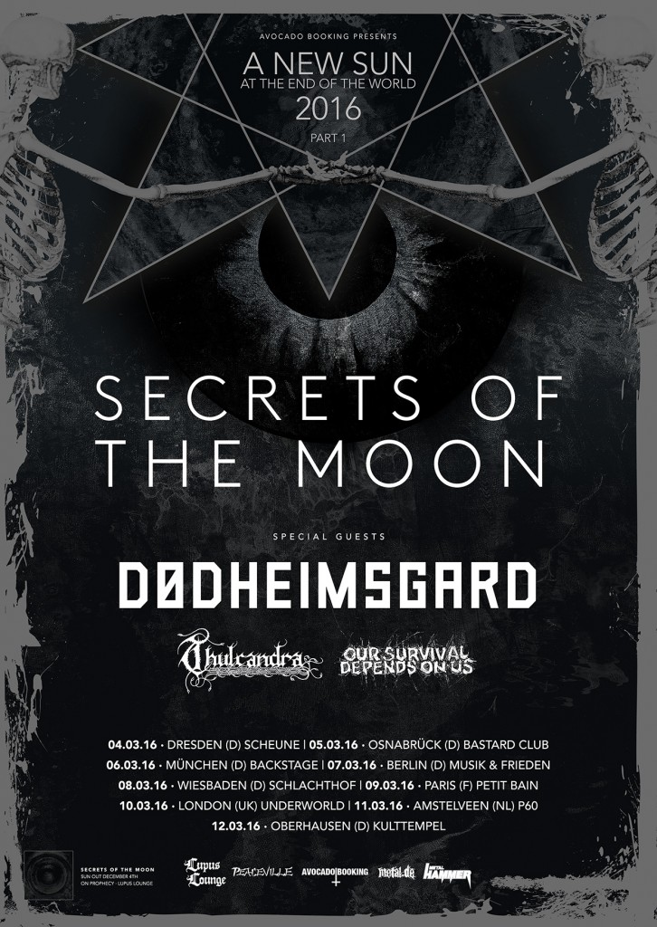 Thulcandra w/ Secrets of the moon EU Tour 2016